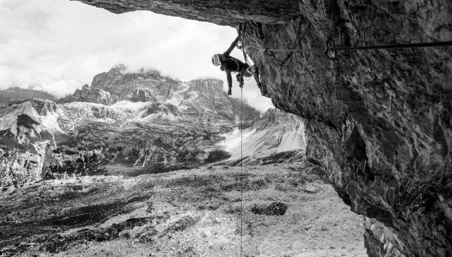 Sébastien Berthe en 'Bellavista' a la Cima Ovest de Lavaredo (Dolomitas).