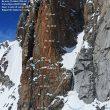 Topo de 'Incoyable' al Pilier Rouge du Brouillard (macizo del Mont Blanc)
