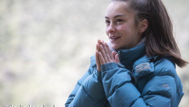 Itziar Martínez, 15 años, escaladora española más joven en encadenar 8c.