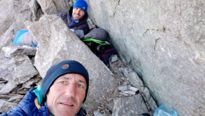 "Mikel Zabalza y Javi Guzmán en ""Divina Providencia"" Mont Blanc"