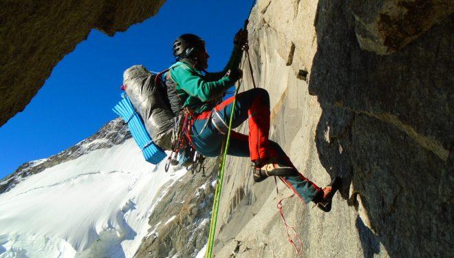 "Mikel Zabalza en ""Divina Providencia"" Mont Blanc"