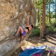 Alex Puccio en 'Reverse logic' 8B+ de Clear Creek.
