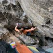 Alex Puccio en 'The wheel direct' 8B+ de Rocky Mountain National Park.