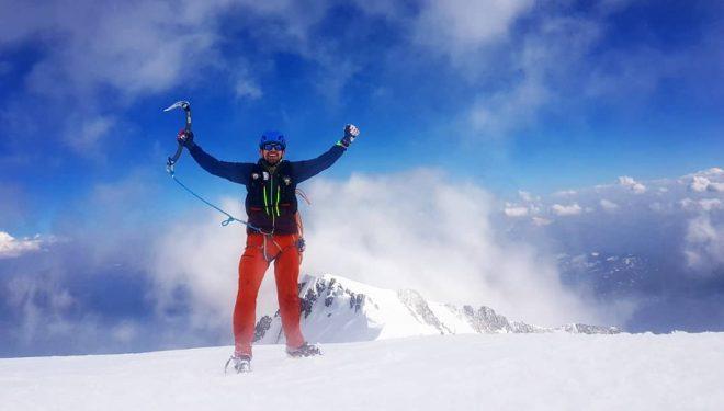 Filip Babicz en la 'Integralissima de Peuterey' al Mont Blanc.