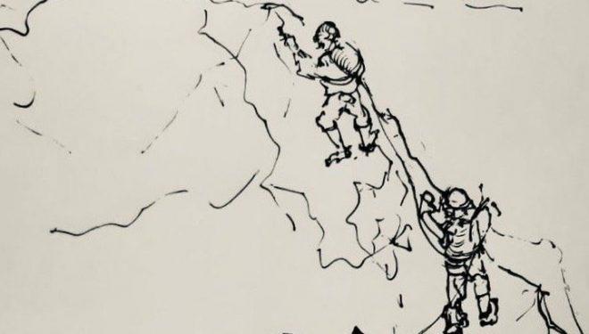Dibujo de la ascensión en el valle de Shimshal.