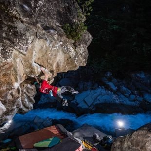 Giani Clement en 'Stir vor talent' 8C/+ de Magic Wood.