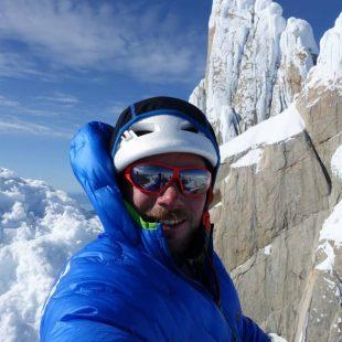 Matteo Pasquetto fallecido a los 26 años cuando descendía Grandes Jorasses escalando en Patagonia.