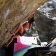Brooke Raboutou en 'Jade' 8B+ de Rocky Mountain National Park.