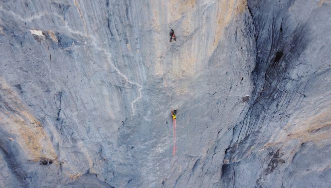 El RAYU marcado en la roca da nombre a la ruta