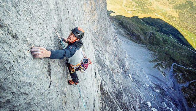 Symon Welfringer en 'Paciencia' en la norte del Eiger