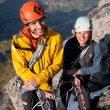 Jacopo Larcher y Barbara Zangerl en 'Odyssee' a la cara norte del Eiger.