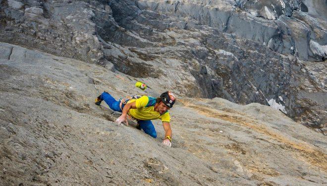 Roger Schaeli en 'Merci la vie' en la cara norte del Eiger.