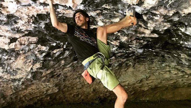 Dani Fuertes en 'Ali Hulk extension total' 9a+ de Rodellar.