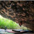 Dave Graham en la cueva de Alí Babá de Rodellar.