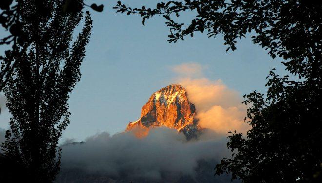 Ushba (4.710 m), en el Cáucaso.