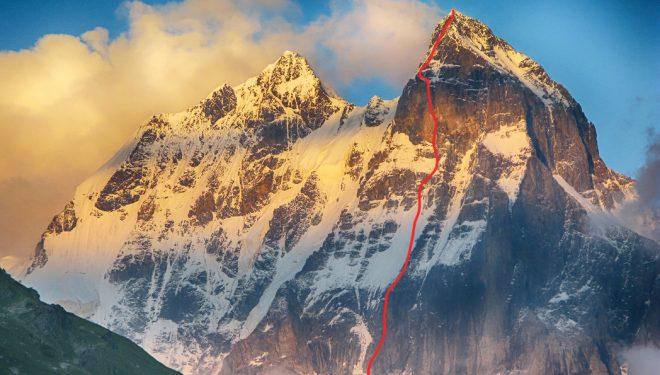 La nueva ruta de Archil Badriashvili y Giorgi Tepnadze en la cara noroeste del Ushba.