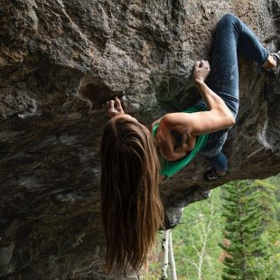 Isabelle Faus en 'The emasculator' 8B+ de Camp Dick.