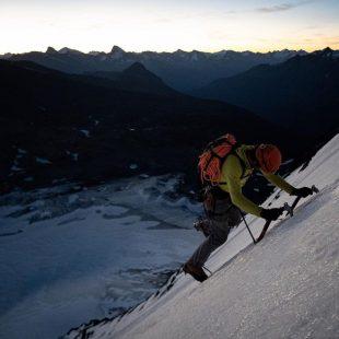Alik Berg y Quentin Roberts, en la cara este del Mt. Forbes.