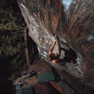 Matt Fultz en 'Hypnotized minds' 8C+ de Rocky Mountain National Park.