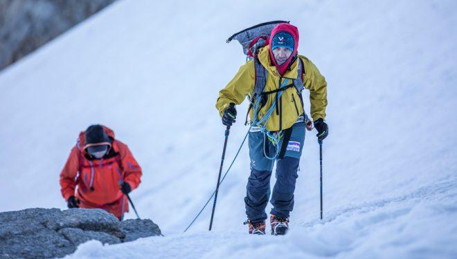 Sergi Mingote y Carlos Garranzo, entrenando en Gran Paradiso (Alpes).