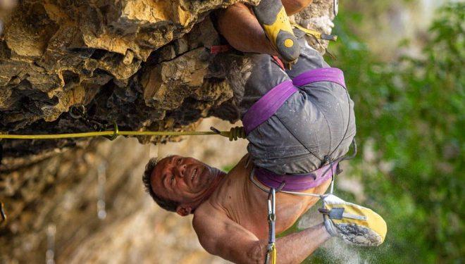 Carlos Logroño 'Citro' en 'Hulk extension total' 8c+ de Rodellar.