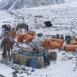 Llegada del material común al CB de la expedición al K2 invernal 2020-21.