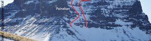 'Painakan y 'Contra corriente', en la cara sur del Cerro Redondo (Sierra de los Baguales, Chile)