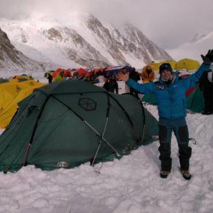 Sergi Mingote, a su llegada al CB del K2 invernal.