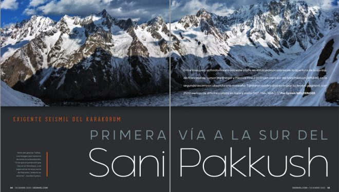 Sani Pakkush en Desnivel nº410