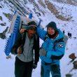 Ali Hussein y Sergi Mingote, de camino a Goro II.