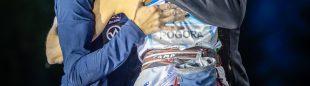 Fanny GIBERT, Laura ROGORA y Janja Garnbret en una prueba de Copa del Mundo 2020 celebrada en Briançon (Francia)
