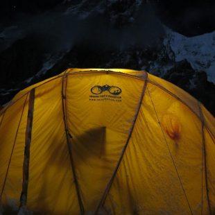 Tienda de Mingma Gyalje Sherpa en el CB del K2 invernal.