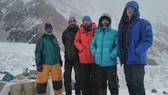 La expedición de John Snorri llega al CB del K2 invernal.