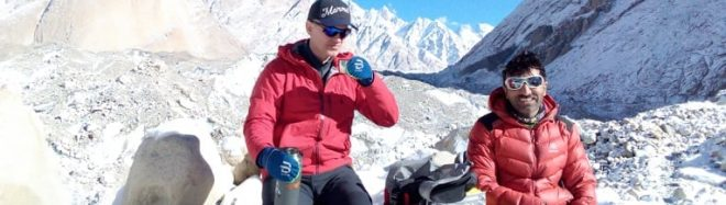 John Snorri y Ali Sadpara, en su expedición al K2 invernal.
