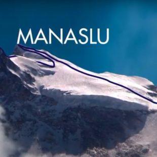 Ruta planeada para el Manaslu invernal de Álex Txikon y Simone Moro.