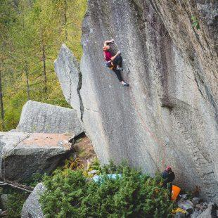 Bernd Zangerl en 'Grenzenlos' (Valle dell'Orco).