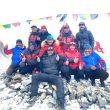 Los 10 alpinistas nepalies que hicieron primera ascensión del K2 invernal. Nirmal Purja, Gelje Sherpa, Mingma David Sherpa, Mingma Tenzi Sherpa, Pem Chhiri Sherpa, Dawa Temba Sherpa, Mingma Gyalje Sherpa, Dawa Tenzin Sherpa, Kili Pemba Sherpa y Sona Sherpa