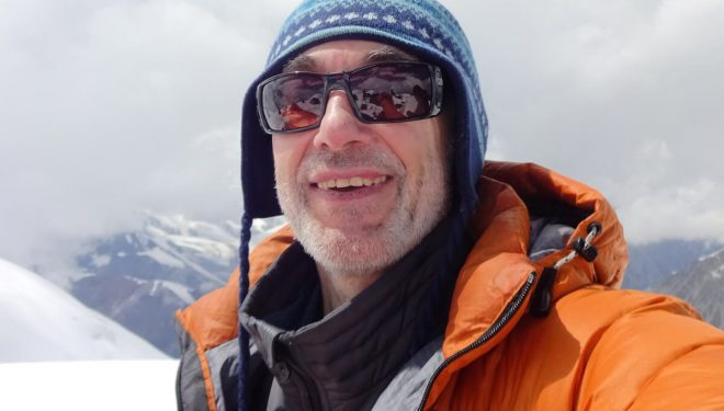 El alpinista ruso americano Alex Goldfarb