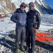 Carlos Garranzo y Chhang Dawa Sherpa, en el CB del K2 invernal.