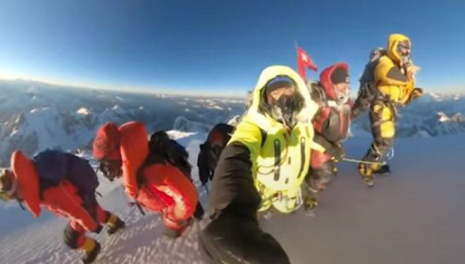 K2 invernal. Grupo de cumbre
