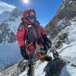 Nirmal Purja, entre C1 y C2 del K2 invernal.