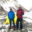 Pasang Nurbu Sherpa y Sona Sherpa, en CB del K2 invernal.