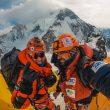 Tamara Lunger y Alex Gavan en el K2 invernal.