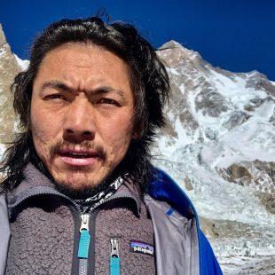 Mingma Gyalje Sherpa (Mingma G) en el K2 invernal.