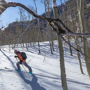 Esquiando con las tablas Dynastart M-Tour