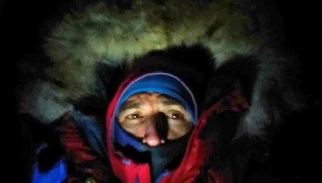 Sergi Mingote en el C2 del K2 invernal