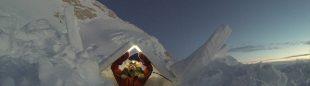 Lonnie Dupre durante su ascensión invernal al Denali.