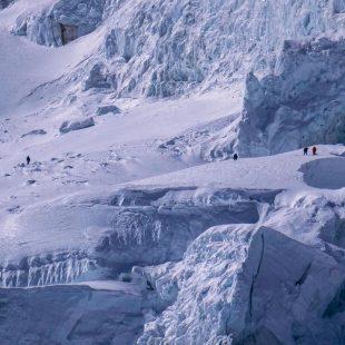 Condiciones alpinas en el Manaslu invernal.