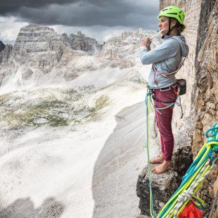 Eline Le Menestrel en los Dolomitas
