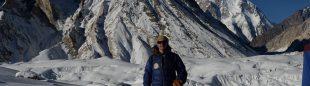 Marc Batard, en el CB del K2 invernal.